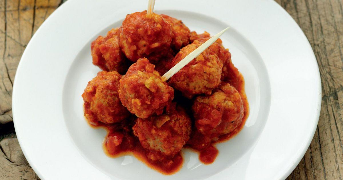 Serrano Ham, Lemon and Green Olive Meatballs in Tomato and ...