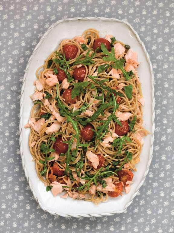 Mediterranean Salmon & Spaghetti