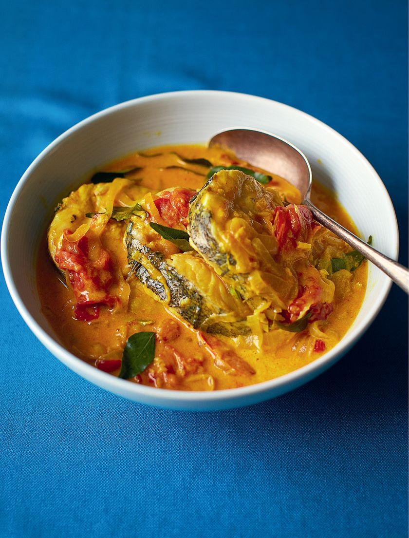 Coconut Fish Curry Fish Moilee The Happy Foodie