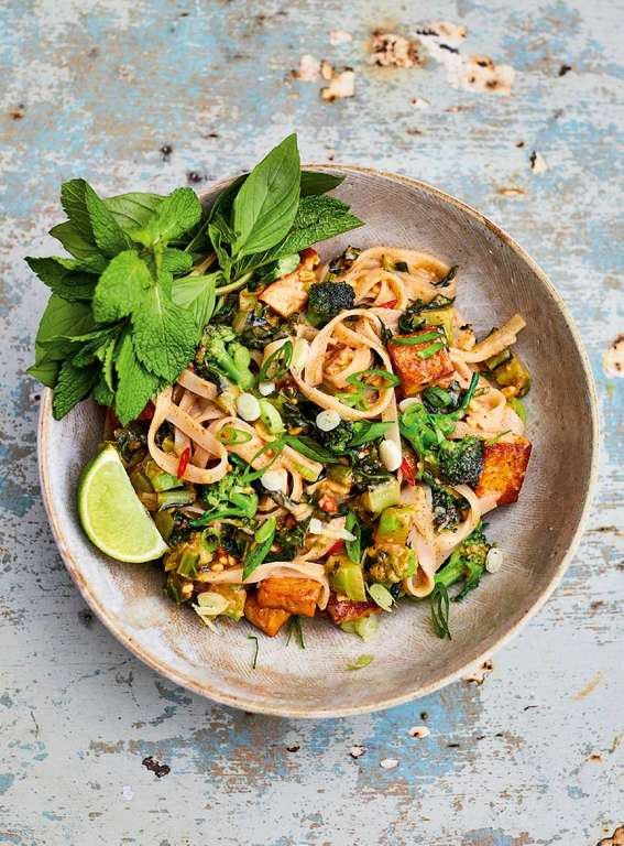 Meera Sodha's Peanut Butter and Purple Sprouting Broccoli Pad Thai