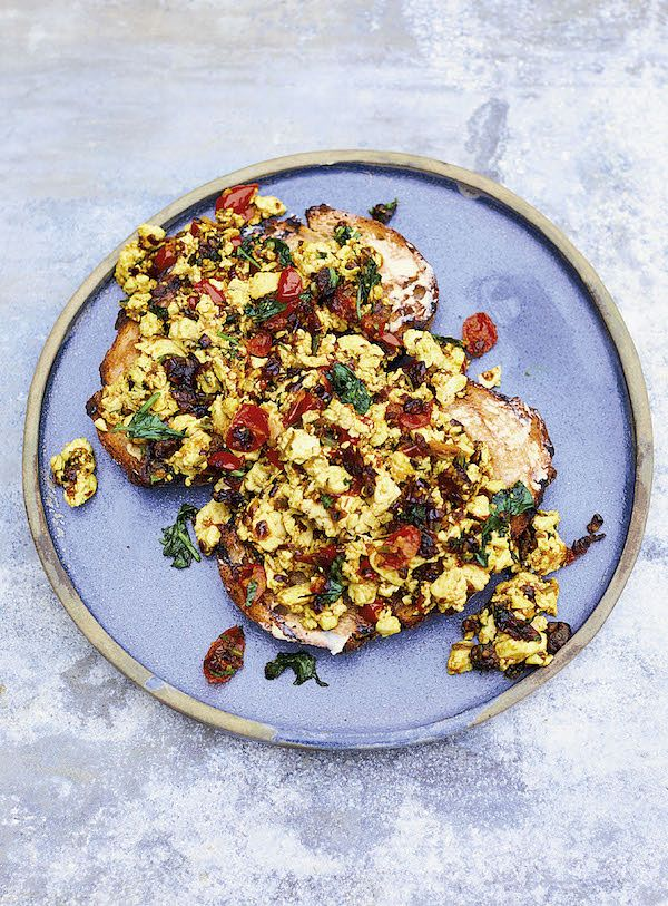 10 toast toppings brunch Meera Sodha's Scrambled Tofu Akuri east
