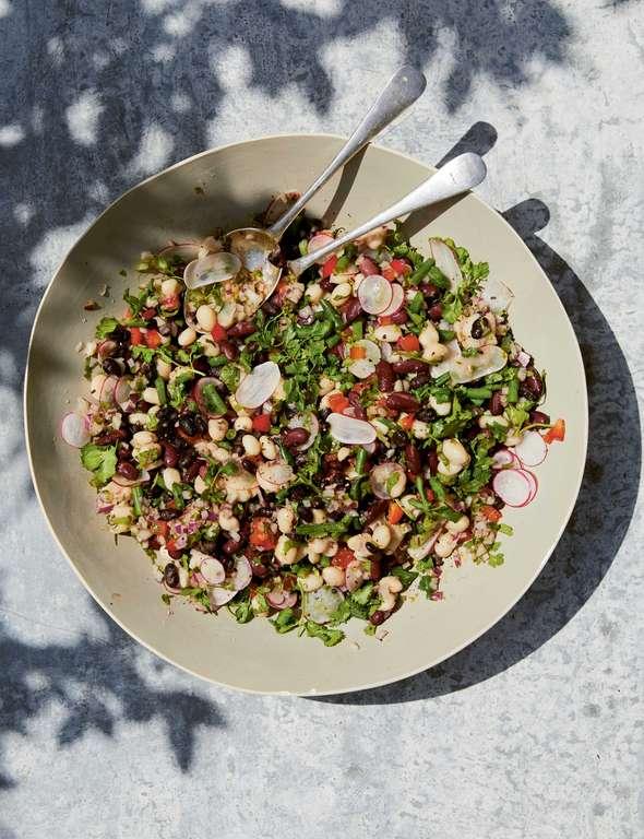 Melissa Hemsley's Big Bean Salad with a Jalapeño, Lime and Cumin Dressing