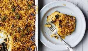 Melissa Hemsley Cavolo Nero Celeriac Cheddar Crumble | Vegetarian Christmas Recipe