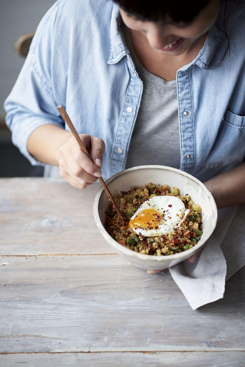 Easy Grain Store Cupboard Recipes | Melissa Hemsley Fried Quinoa