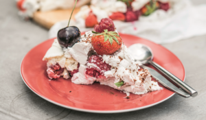 Egg-Free Vegan Pavlova Meringue Tower Recipe