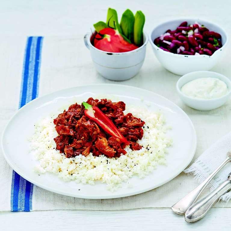 Melting Beef with Cauliflower Rice