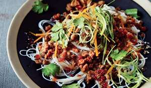 Sweet Chilli Pork with Rice Noodles