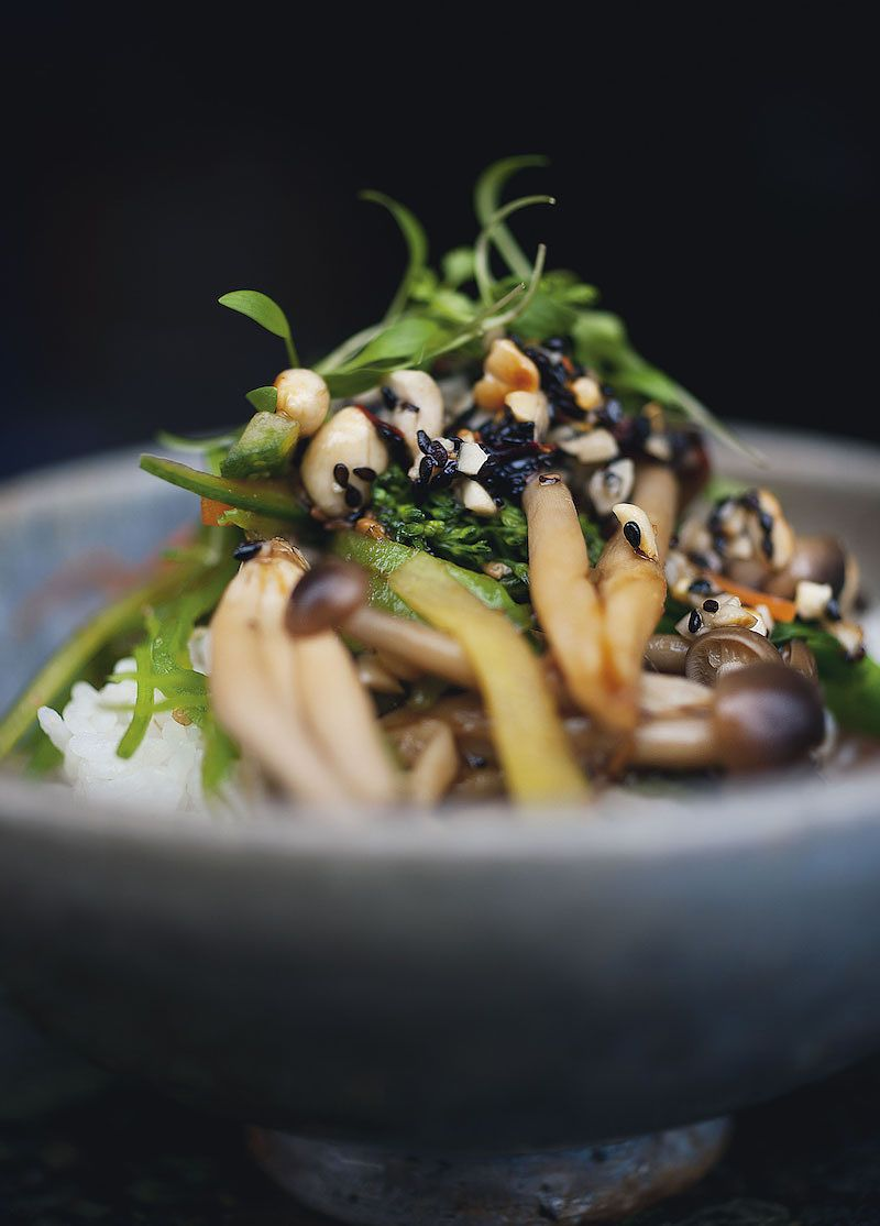 ottolenghi miso recipes Miso Vegetables and Rice with Black Sesame Dressing plenty more