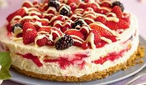 Raspberry Ripple Cheesecake