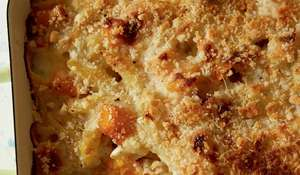 Butternut Squash Gratin with Penne