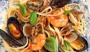 Marina's Spaghetti with Seafood