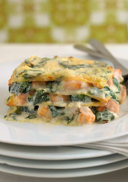 Salmon, Prawn and Dill Lasagne