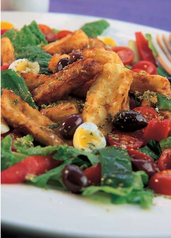 Fried Halloumi Salad