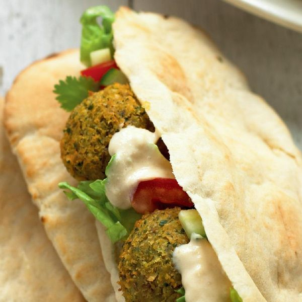 Falafel With Tahina Cream In Pitta Recipe