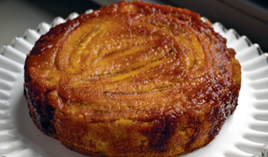 Banana, Coconut and Saffron Upside-Down Cake
