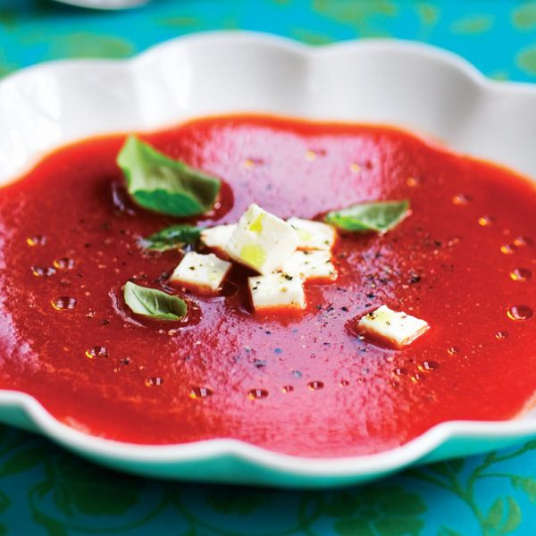 Serve this chilled soup for a refreshing light lunch over the warm ...