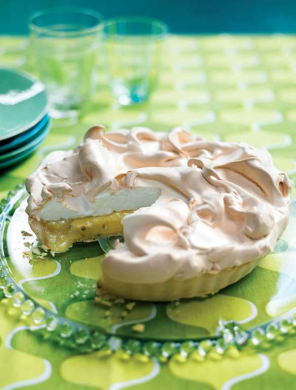 Passion Fruit and Lime Meringue Pie