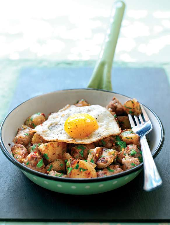 Sausage and Fried Egg Hash