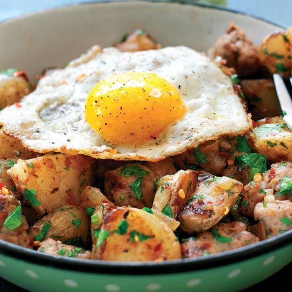 Sausage And Fried Egg Hash