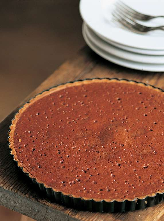 Chocolate and Apricot Tart