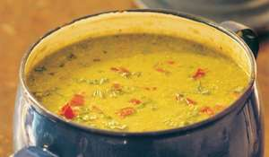 Sopa De Guisantes (Pea Soup with Jamon and Mint)