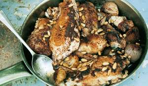 Roast Chicken with Sumac, Onions and Pine Nuts