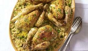 Moroccan Ferakh Maamer-inspired Roast Poussin