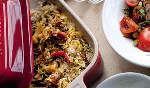 Layered Vegetable Biryani