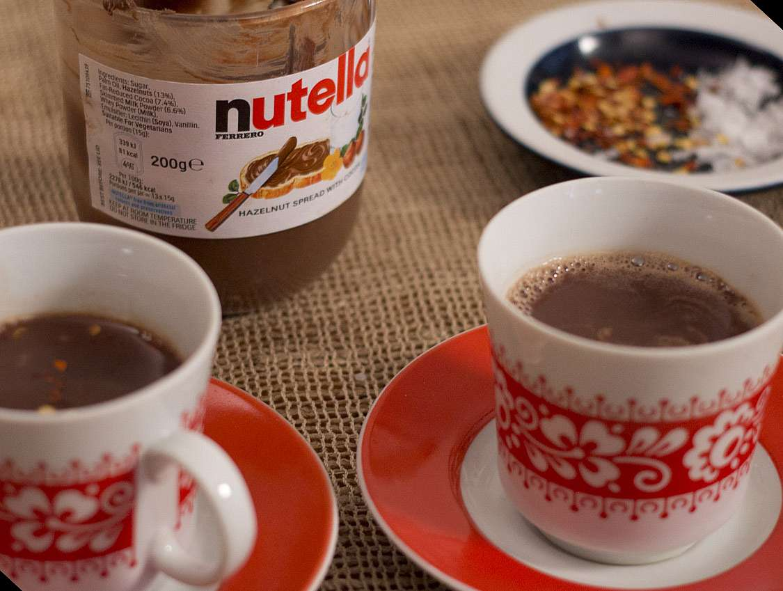Nutella Hot Chocolate - The Happy Foodie