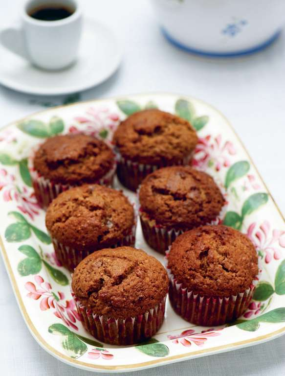 Espresso, fig and walnut muffins