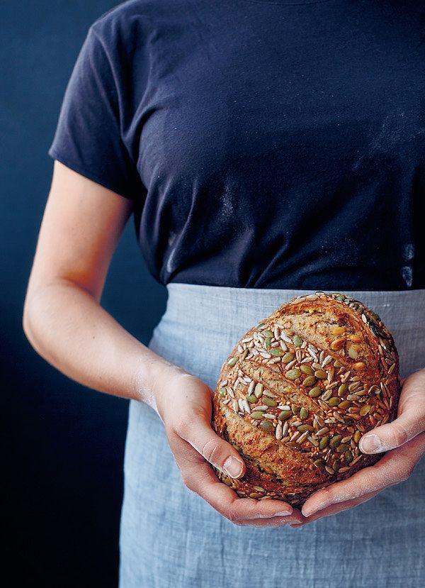 baking bread multiseed sourdough