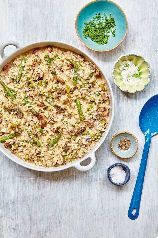 Mary Berry's Mushroom and Asparagus Risotto