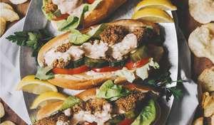 Vegan Oyster Mushroom Po'Boy