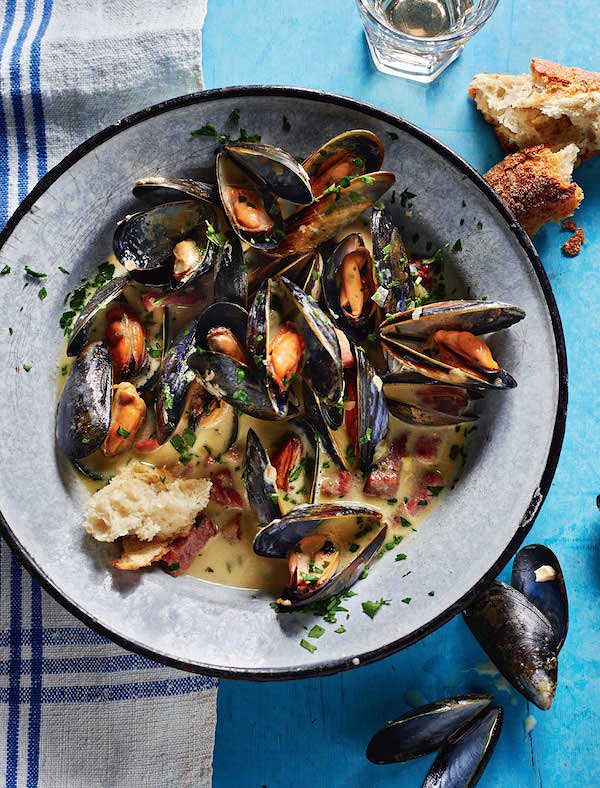 rick stein secret france mussels with poulette sauce