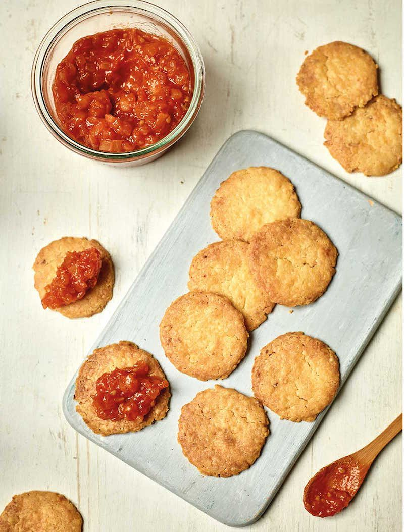 nadiya biscuit recipes cheese biscuits with tomato jam nadiya family favourites