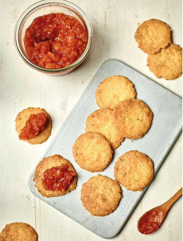 Nadiya Hussain's Cheese Biscuits with Tomato Jam