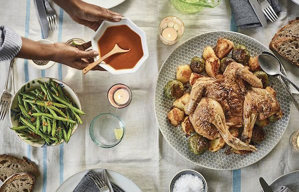how to spatchcock chicken Sunday Lunch Our WayfromNadiya's Family Favourites by Nadiya Hussain