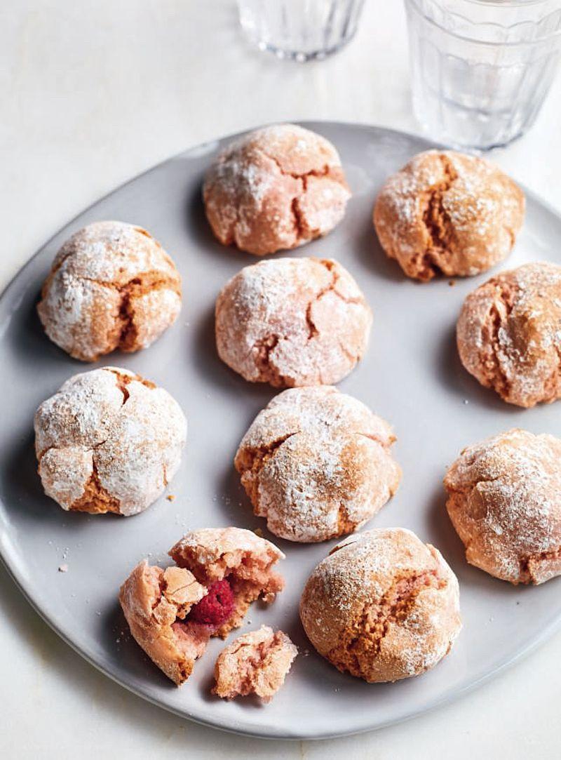 Last minute edible Christmas gifts nadiya hussain raspberry amaretti biscuits nadiya bakes
