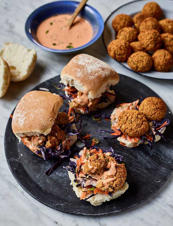 Easy Store Cupboard Recipes | Nadiya Hussain Baked Bean Falafel