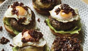 Nadiya Hussain's Beef Burgers with Bacon Jam Nadiya's Family Favourites Recipe