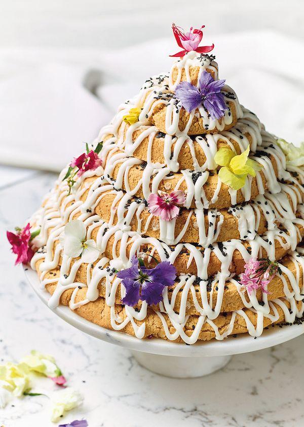 best nadiya hussain festive christmas recipes kransekake biscuit tower nadiya bakes