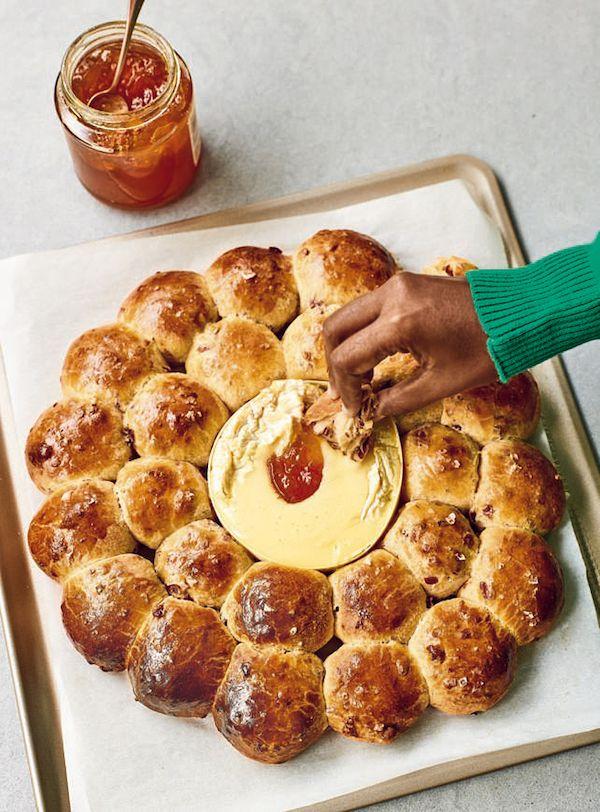 best nadiya hussain festive christmas recipes Cranberry and Chilli Brioche Wreath from Nadiya Bakes