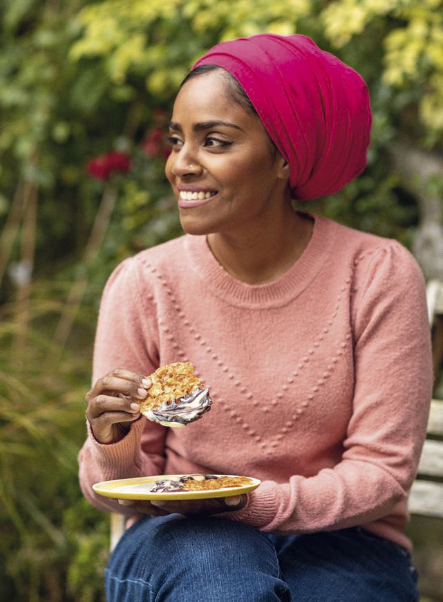 Nadiya Bakes BBC2 Croissant Ice Cream Pudding