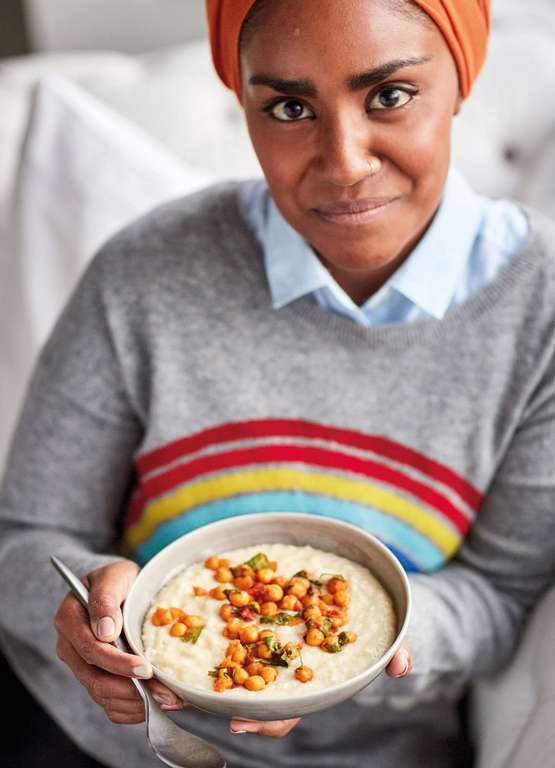 Nadiya Hussain's Ginger Rice with Spiced Chickpeas