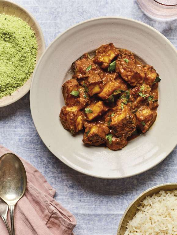 Nadiya Hussain's Halloumi Curry with Coconut Sambal
