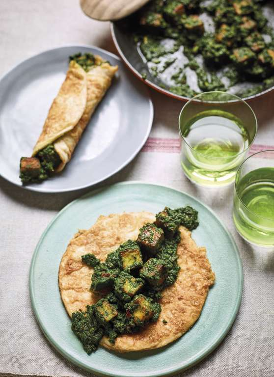 Spinach and Paneer Kati Rolls