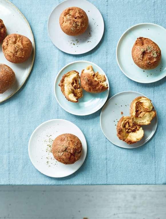 Nadiya Hussain's Pulled Chicken Doughnuts