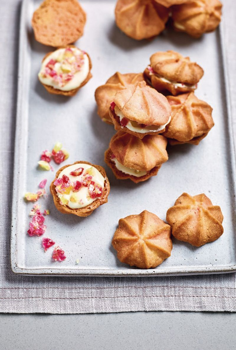 nadiya biscuit recipes nadiya bakesNadiya Hussain's Rhubarb and Custard Butter Kisses