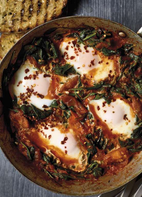 Nadiya Hussain's Smoky Spinach Shakshuka