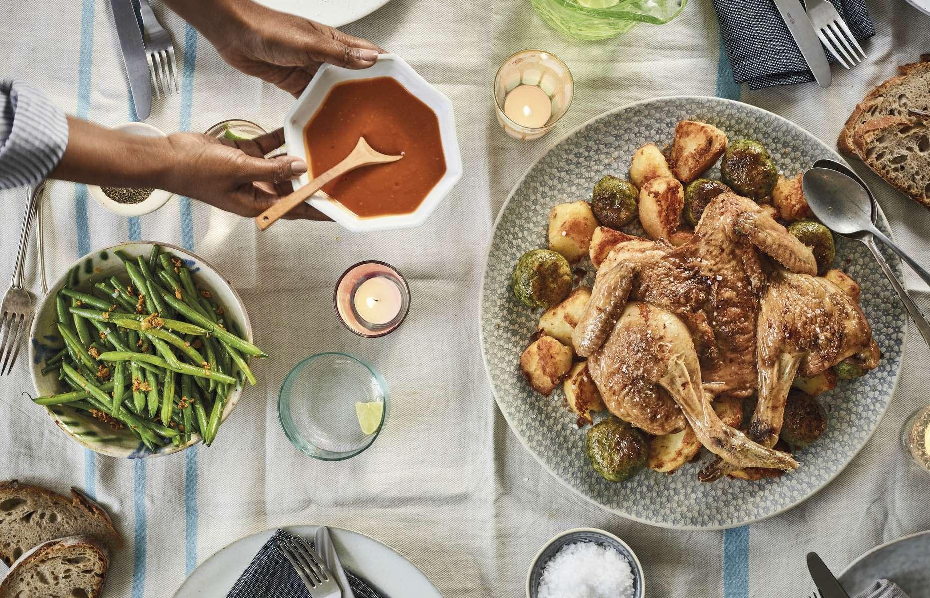 Nadiya hussain sunday lunch roast chicken recipe family favourites nadiya hussains sunday lunch our way forumfinder Images
